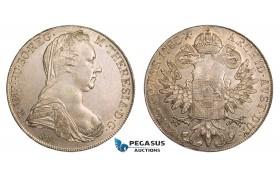 AA796, Austria, Maria Theresia, Taler 1780 SF (Venice mint 1817-33 restrike) Silver (28.12g) AU-UNC
