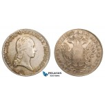 AA797, Austria, Franz I, Taler 1822 G, Nagybanya, Silver (28.04g) Toned aVF