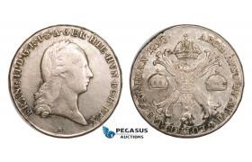AA798, Austrian Netherlands, Franz II, Kronentaler 1797 B, Kremnitz, Silver (29.00g) F-VF
