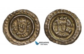 AA807, Germany, Ulm, Friedrich II, Brakteat ND (1220-1250) Silver (0.47g) Berger (KM) 2605, VF-XF
