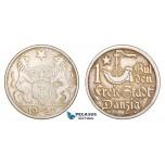 AA814, Poland, Danzig, 1 Gulden 1923, Berlin, Silver, Toned AU (Small scratch)