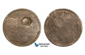 AA815, Ottoman Empire, Turkey, 20 Para AH1255, Counter marked Sanjak Gelibolu (1)315 (Kallipolis, Greece) F-VF