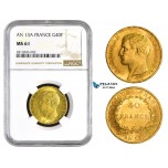 AA821, France, Napoleon, 40 Francs AN 13-A, Paris, Gold, NGC MS61 (Better in hand)