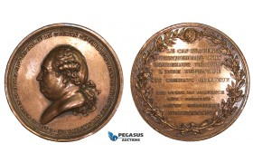 AA877, France & India, Bronze Medal 1784 (Ø49mm, 45.8g) by Dupre, Capture of Trincomalee
