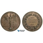 AA878, France & Great Britain, Bronze Medal 1830 (Ø36mm, 21g) by Gayrard, Peace & Liberty, Genie
