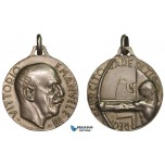AA883, Italy, Vittorio Emanuele III, Silver Medal ND (Ø28.6mm, 11.1g) by Morbiducci, Shooting Contest