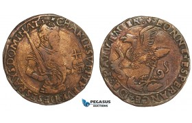 AA884, Netherlands, Bronze Token c. 1520 (Ø28mm, 3.9g) Charles V (Quint), Dugniolle 1550a, Rare!