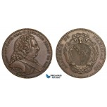AA885, Poland & France, Bronze Medal 1750 (Ø33mm, 15.8g) by Borrel, Nancy Stanislas Academy