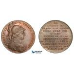 AA886, Sweden, Bronze Medal c. 1700 (Ø32mm, 13.1g) by Hedlinger, Queen Christina
