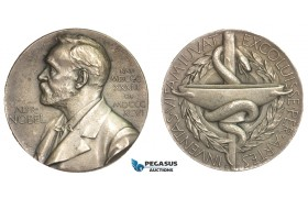 AA889, Sweden, Silver Medal 1973 (Ø26.5mm, 11.3g) Alfred Nobel, Swedish Medical Society