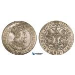AA892, Poland, Danzig, Sigismund III, Ort (1/4 Taler) 1616-SA, Silver (6.39g) Lustrous, AU-UNC