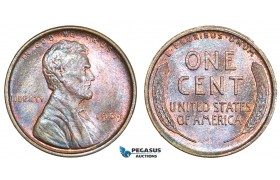 AA896, United States, Lincoln Cent 1909, Philadelphia, Red Brown Ch UNC