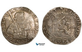 AA900, Netherlands, Gelderland, Rijksdaalder 1658, Silver (28.64g) Delm. 938 (R2) Toned VF-XF