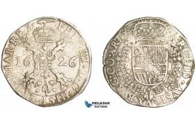 AA912, Belgium, Duchy of Artois, Patagon 1626, Arras, Silver (27.62g) Del. 298, Very Rare!