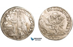 AA917, Italy, Venice (for Albania & Dalmatia) Alvise II Mocenigo, Leone da 80 soldi ND, Silver (11.22g) F-VF, small scratch on Rev.