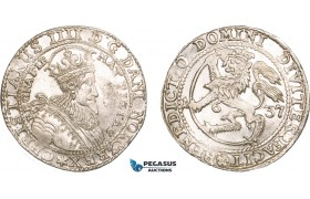 AA919, Norway, Christian IV, Speciedaler (Taler) 1637, Christiania, Silver (29.04g) NM 37, Lustrous EF+