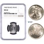 AA934, France, Fifth Republic, 1 Franc 1960