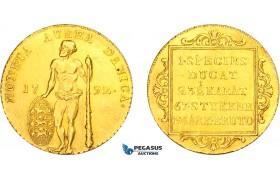 AA961, Denmark, Christian VII, Ducat 1792-B, Altona, Gold (3.48g) Lustrous aUNC