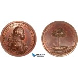 AA968, Austria, Bronze Medal ND (Ø46mm, 33.2g) by Wideman, Election of Archduke Leopold, Palm Tree