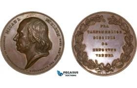 AA969, Denmark, Bronze Medal 1844 (Ø43.5mm, 46.2g) by Christensen, Micael Nielsen, Copenhagen School Director