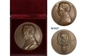 AA970, Denmark, Bronze Medal 1930 (Ø55.5mm, 92.8g) by Gunnar, Owl, Doctor Einar Brunniche, Medicine, Rare!
