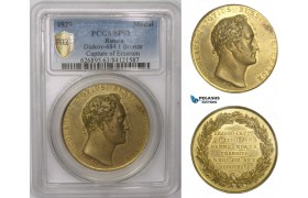 AA978, Russia & Turkey (Ottoman Empire), Gilt Bronze Medal 1829 (Ø36.5mm) by Loos, Capture of Erzurum, PCGS SP63