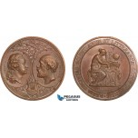AA983, Sweden, Oscar II, Bronze Medal 1878 (Ø43.5, 38g) by Lindberg, Owl, Goteborg Science Society