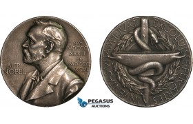 AA993, Sweden, Silver Medal 1947 (Ø27mm, 12g) Alfred Nobel, Swedish Medical Society