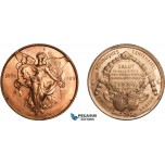 AA996, United States & France, Bronze Medal 1889 (Ø44.5mm, 66.5g) by Gorham, Washington, Republic Centenary