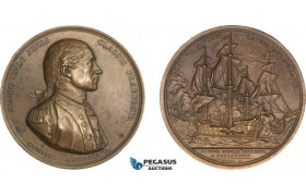 AA997, United States, Bronze Medal 1779 (Later Strike) (Ø57mm, 82g) by Dupre, Captain John Paul Jones, Naval Battle