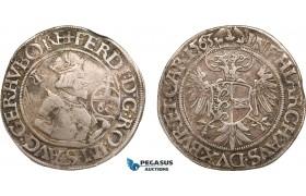 AB006, Austria, Klagenfurt, Ferdinand, Guldentaler (60 Kreuzer) 1563, Silver (23.72g) Toned VF