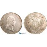 AB007, Austria, Franz I, Taler 1815-C, Prague, Silver (28.09g) Toned & Lustrous aUNC