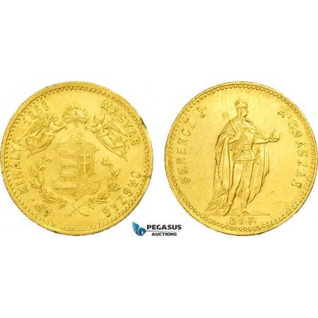 AB008, Hungary, Franz Joseph, Ducat 1869 GYF, Gyulafehervar, Gold (3.48g) edge nicks, VF-XF