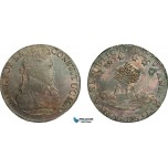 AB074, Bolivia, 8 Soles 1833 PTS LM, Potosi, Silver, Toned aUNC (Faint Hairlines)
