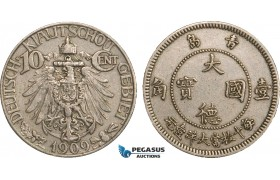 AB100, China, Kiau Chau (German Colony) 10 Cents 1909, aXF