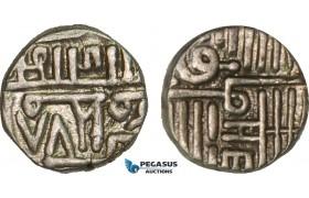 AB108, India, Porbandar, Muzaffar Shah II of Gujarat Sultanate, Kori AH978, Silver (2.34g) XF