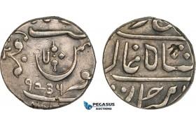 AB110, India (EIC) Maratha Confederacy, Shah Alam II, Rupee AH1234, Silver (11.04g) VF-XF