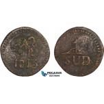 AB131, Mexico, Zacatecas, Insurgent countermarked 8 Reales 1813, C/S Morelos, KM# 265.4, VF