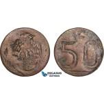 AB137, Mexico, Revolutionary, Amecameca, 50 Centavos ND, KM# 686, VF