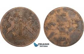 AB152, Singapore, Sultana, 1 Keping 1411 (1835) KM# Tn5, VF