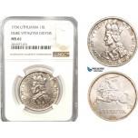 AB179, Lithuania, 10 Litu 1936, Silver, NGC MS61