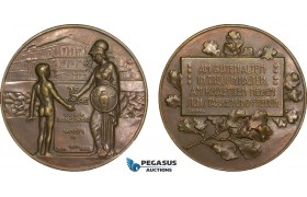 AB193, Austria, Bronze Medal 1926 (Ø41mm, 27.5g) by Schwab, Athena, Owl, Vienna High School
