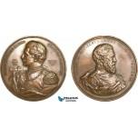 AB200, Germany, Bronze Medal 1888 (Ø70mm, 130g) by Lauer & Schwabe, Wilhelm II & Friedrich II, Rare!