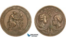AB204, Sweden, Bronze Medal 1878 (Ø43.5mm, 37.7g) by Lindberg, Owl, Goteborg Science Society