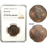 AB241, Canada, Victoria, 1 Cent 1900-H, Heaton, NGC MS64BN