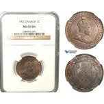 AB242, Canada, Edward VII, 1 Cent 1902, NGC MS65BN
