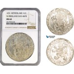 AB317, Netherlands, West Friesland, Daalder 1651, Silver, NGC MS62
