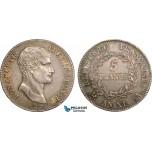 AB355, France, Napoleon (Premier Consul)  5 Francs AN XI-A, Paris, Silver, Toned AU+ (SUP+)