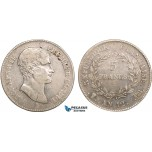 AB356, France, Napoleon (Premier Consul)  5 Francs AN 12-BB, Strasbourg, Silver, VF (TB) Very Rare!