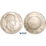 AB358, France, Napoleon (Premier Consul)  5 Francs AN 12-Q, Perpignan, Silver, AU (SUP) Rare!
